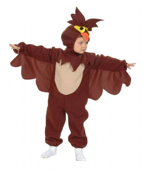 Childs Owl Toddler Costume Wise Bird Forest Animal Fancy Dress Outfit
